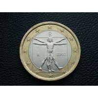 Италия 1 евро 2002 г.
