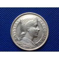 5 лат 1931 Милда. Латвия. Первая Республика. Серебро.