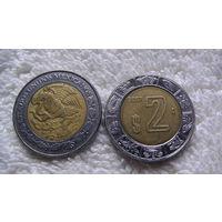 Мексика 2 песо 2007г. биметалл. распродажа