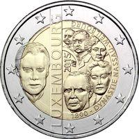 2 евро 2015 Люксембург Династия Нассау-Вейлбург UNC из ролла