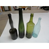 Бутылки ретро без первой