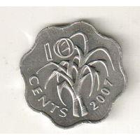 Эсватини (Свазиленд) 10 цент 2007