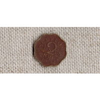 Шри Ланка Цейлон 2 цента 1944 //(GB)/