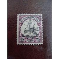 1901 Ostafrika ОстАфрика Mi.17 (Mi:18 euro) германские колонии (Kaiseryacht-Императорская яхта) корабль