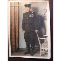 Цветное фото бойца.1950 г.