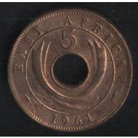 Британская Восточная Африка 5 центов 1961 г. Не плохие!!