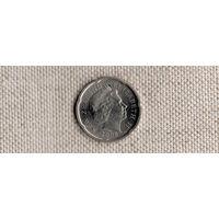Новая Зеландия 20 центов 2008(Ab)