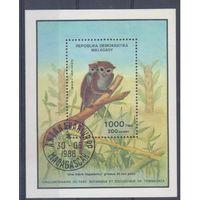 [363] Мадагаскар 1988.Фауна.Лемуры. Гашеный блок.