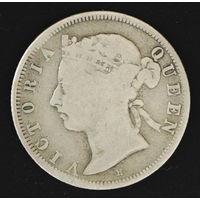 Британский Гонконг 20 центов 1890