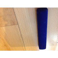 Коробочка для украшений синий бархат