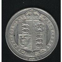 Великобритания 1  шиллинг 1892 г. Серебро.