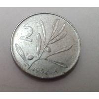 Италия 2 лиры 1954