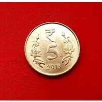 35-20 Индия, 5 рупий 2013 г. (Калькутта)