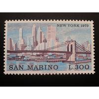 Сан-Марино 1973 Нью-Йорк