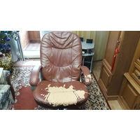 Кожаный компьютерный стул