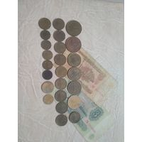Набор СССР 24 шт(разные года) +2 бона +3 копейки 1930