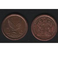 Южная Африка (ЮАР) km133 2 цента 1994 год (b06)