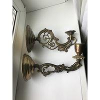 Бра, настенный светильник Латунь/бронза Цена за 1
