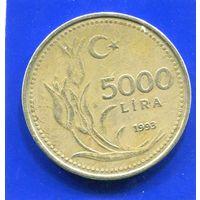 Турция 5000 лир 1993