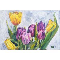 Графические тюльпаны