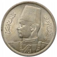 ЕГИПЕТ, ФАРУК I, 10 пиастров, 1939, серебро 833