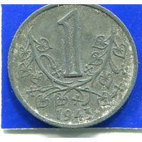 Богемия и Моравия 1 Крона 1943 , Немецкий Протекторат , цинк