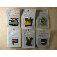 Значки. Голандия, флаг. тяжёлые, цанга. цена за 1 шт.