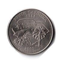 США. 1/4 доллара (1 квотер, 25 центов). 2000. Южная Каролина. P