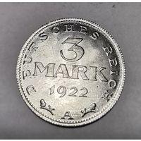 Германия 3 марки 1922 год. - А -
