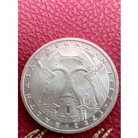 5 марок ФРГ  серебро 0,625 Balthasar Neumann
