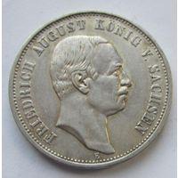 Германия, Саксония, 3 марки, 1909, серебро