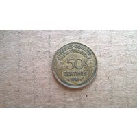 Франция 50 сантимов, 1931г. (U-обм)
