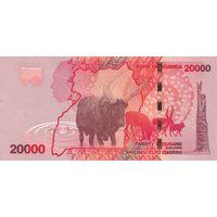Уганда 20000 шиллингов 2015 года (UNC)