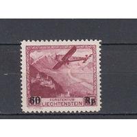 Авиация. Лихтенштейн. 1935. 1 марка (полная серия). Michel N 148 (190,0 е)