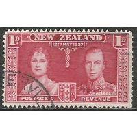 Новая Зеландия. Король Георг VI и королева Елизавета. 1937г. Mi#232.