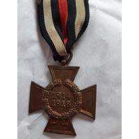 """Медаль """"Крест Гинденбурга"""" без мечей Германия военный оригинал"""