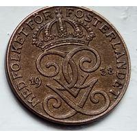 Швеция 2 эре, 1938 4-4-45