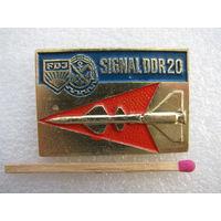 Знак. Комсомол ГДР. FDJ Signal DDR 20. Ракета