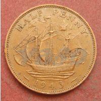 6276:  1/2 пенни 1943 Британия