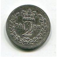 ВЕЛИКОБРИТАНИЯ - 2 ПЕНСА 1838