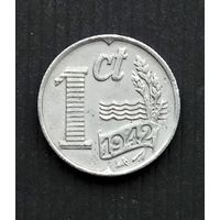 Нидерланды 1 цент 1942 г. цинк