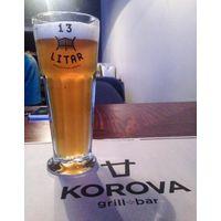 """Пивной бокал, кружку под пиво пивоварни """"13 Litar """" ( Брестская обл )."""