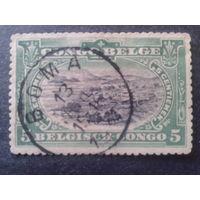 Конго 1909 колония Бельгии стандарт, ландшафт