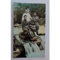 Фото военных с друзьями 1939г. Кисловодск. Размер 8.2-14 см.