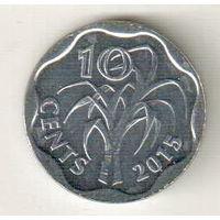Эсватини (Свазиленд) 10 цент 2015
