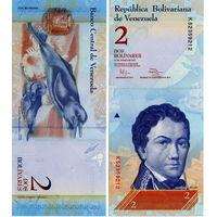 Венесуэла  2  боливара  образца 2007 года UNC