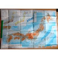 Большая карта Японии.