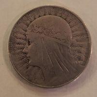 Польша 10 злотых 1932 Ядвига со знаком МД