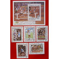 Мавритания. Спорт. ( Блок и 5 марок ) 1984 года.