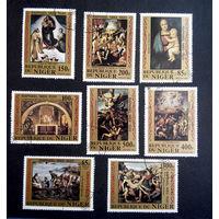 Нигер 1983 г. 500-летие Рафаэля Санти. Живопись. Искусство, полная серия из 8 марок #0151-И1P29